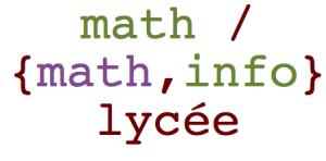 math info lycée